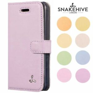newest 43381 91419 Details about Snakehive Apple iPhone 5/5S/SE Premium Pastel Leather Phone  Folio Wallet Case