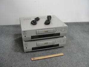 Lot-of-2-Sony-DSR-30-Professional-DVCAM-Digital-Videotape-Recorder-w-Cords