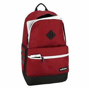 d90b934c3ffd Image is loading NWT-Adidas-Classic-3s-Laptop-Backpack-Burgundy-Excell-