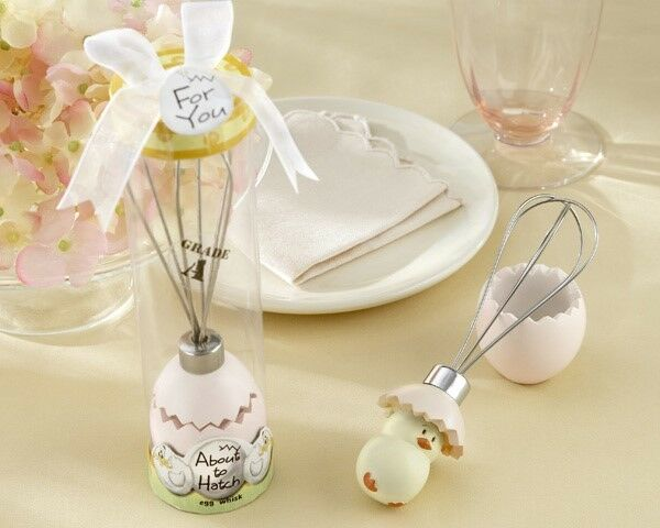 96 About To Hatch Egg Kitchen Whisk Baby Shower Keepsake Gift Party Favors