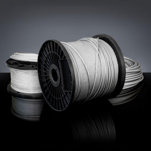 10m DRAHTSEIL 8mm DIN 3060 6x19 Seil Draht Stahlseil