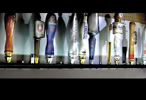 15 Beer Tap Handle Display Black Finish Wall Mounted
