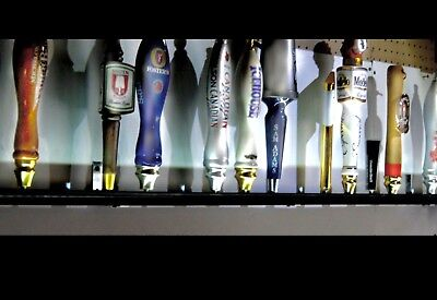 Lot Of 2 15 Beer Tap Handle Displays Black Finish Wall Mount Includes Brackets Ebay
