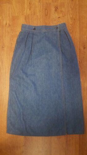 Vintage Levi's WRAP skirt High Waisted soft Denim