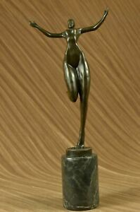 Handcrafted-bronze-sculpture-SALE-Modern-Abstract-Girl-Nude-Cubism-Juno-Signed