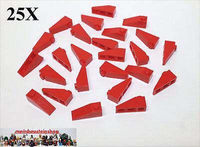 25X Lego® 4286 Basic Dachsteine Slope Roof 1X3 33° Rot Red NEU
