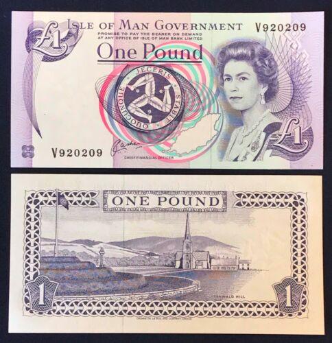 Signature 6 Cashen UNC Isle of Man 1£ 1983 Young QE II P40b