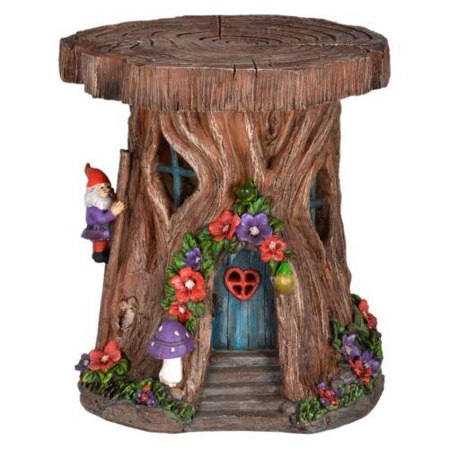 Azuma Outdoor New Resin Tree House Solar Light For Gnome Garden Fairy Village