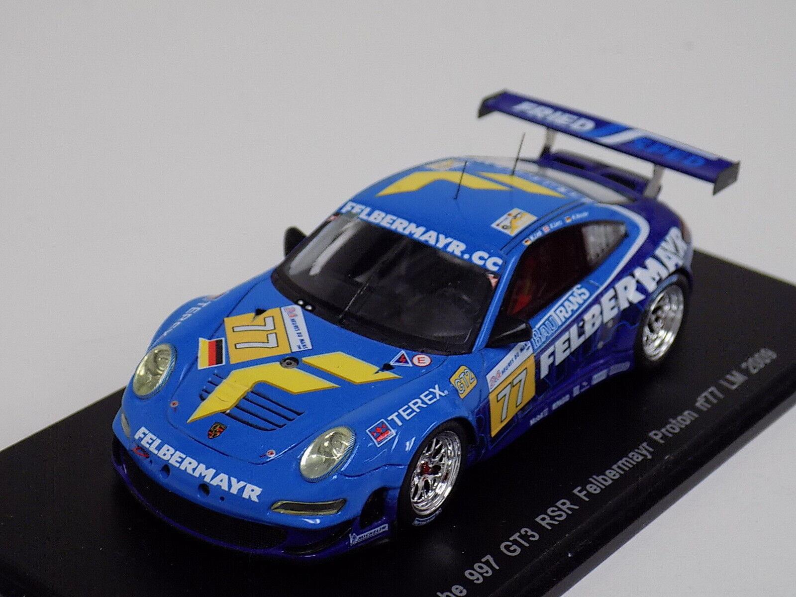 1 43 SPARK PORSCHE 911  997  GT3 RSR Voiture  77 de 2009 24 H LeMans S1955