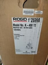 New Listingridgid 26998 K400 Drum Drain Cleaning Machine 12 Cable Tool Only No Attachement