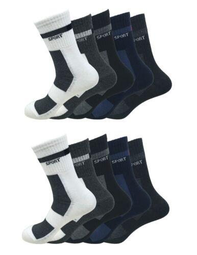 Sportsocken Baumwolle 10er Pack in 5 Farben MT165008 Herren Freizeit u
