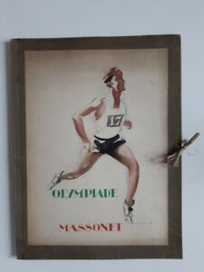 Olympic-Game-Portfolio-with-8-lithographed-sporting-plates-Olympiade-one-of-500