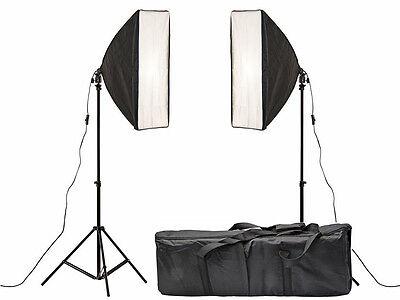 Softbox Studio Lighting kit 2 x 45w continuous Photo Video Kit Bag e27 fit