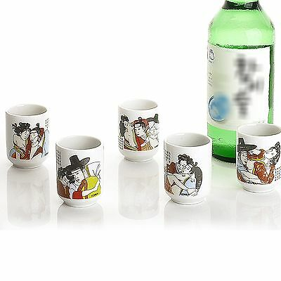 Drinking Glass Sets Shot Glasses For Soju An Obscene Picture Drinking Cup 5P