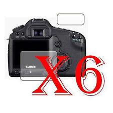 6 PZ PELLICOLA PROTEZIONE DISPLAY Canon EOS 5D Mark II PROTEGGI SCHERMO LCD