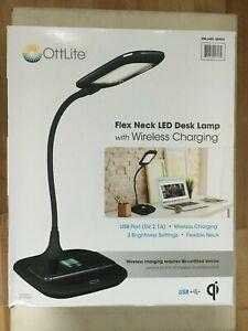 OttLite Flex Neck LED Desk Lamp with