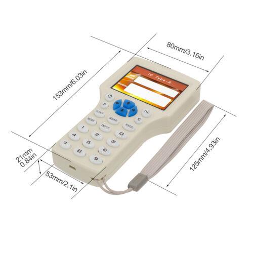 10 Frequency RFID Copy Encrypted NFC ID//IC Card Reader Writer Keyfbob 1000KHZ