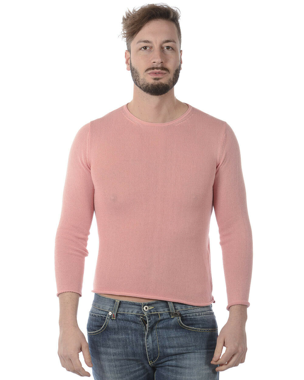 Daniele Alessandrini Sweater ITALY Man Rosa FMCL23701 58 Sz. 52 PUT OFFER