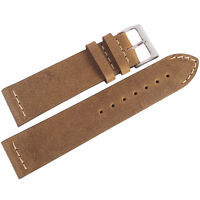 20mm Colareb Venezia Rust Brown Leather Made In Italy Aviator Watch Band Strap