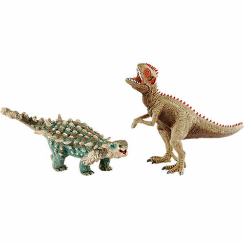 NEW SCHLEICH 41426 Small Saichania /& Giganotosaurus Dinosaur Dino Twin Pack