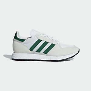 sports shoes d2882 c2a8c Image is loading ADIDAS-FOREST-GROVE-B41546-CRYSTAL-WHITE-COLLEGIATE-GREEN-