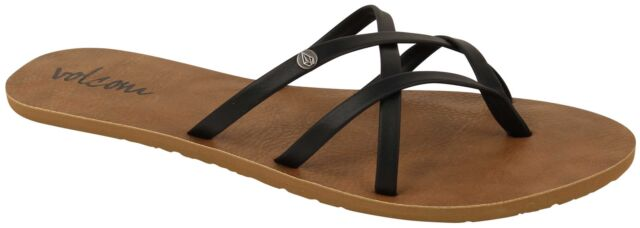 a767a46c2e65f6 Volcom Black School - Creedlers Womens Flip Flop US 6