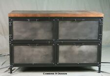 Vintage Industrial File Cabinet With Reclaimed Wood Top Modern Filing Storage