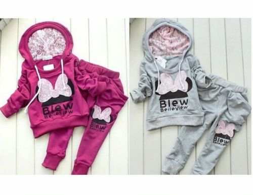 Pants Clothes Outfits Suits 2pcs//set Kids Baby Girls Long Sleeve hooded coat