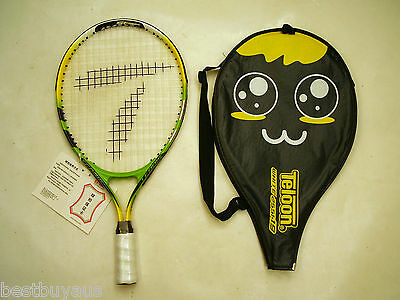 TELOON BOYS GIRLS JUNIOR TENNIS RACKET &COVER AGE 2-4 19 INCH OR AGE 4-6 21 INCH
