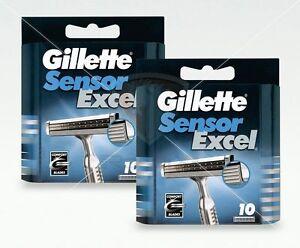 Gillette-Sensor-Excel-Rasierklingen-20-Stueck-Original-Ersatzklingen-OVP