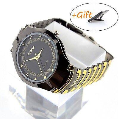 Fashion Mens Stainless Steel Band Sport  Quartz Analog Wrist Watch Watches+ Gift