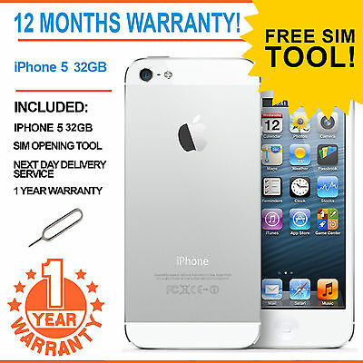 Apple iPhone 5 - 32 GB - White and Silver (Unlocked) Smartphone