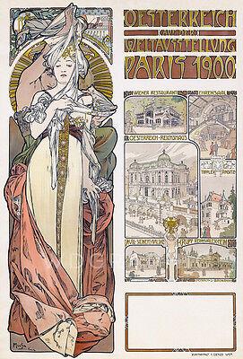 Austria 1899 Alphonse Mucha Art Nouveau Advertising Repro Canvas Print 20x30