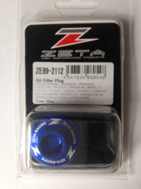 Yamaha YZF250 YZF 250 YZ250F 2001-2018 Zeta Tapón de Llenado de Aceite Azul