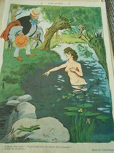 Girl-nue-dans-l-039-eau-me-rendre-mes-vetements-Humour-Print-1904