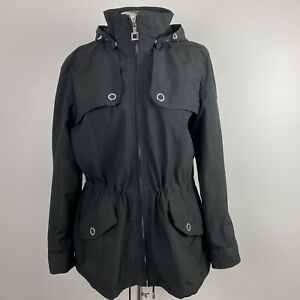 Zero Xposure Womens Jacket Black XL Spring Detachable Hood Rain Coat