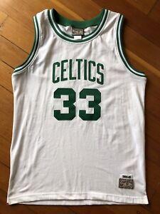 new concept 4d3e8 97856 Details about Larry Bird Boston Celtics Vintage Hardwood Classics Stitched  NBA Jersey Large