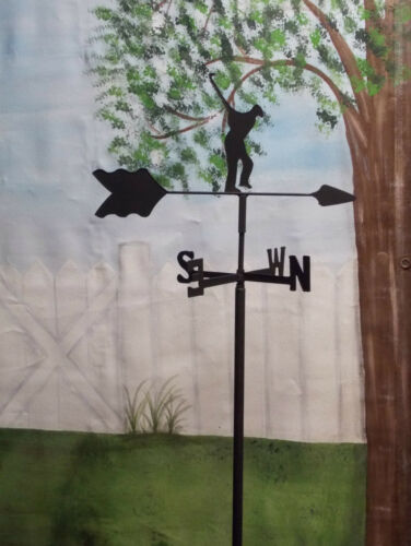 GOLFER  GARDEN STYLE WEATHERVANE WROUGHT IRON LOOK MADE IN USA TLS1022IN