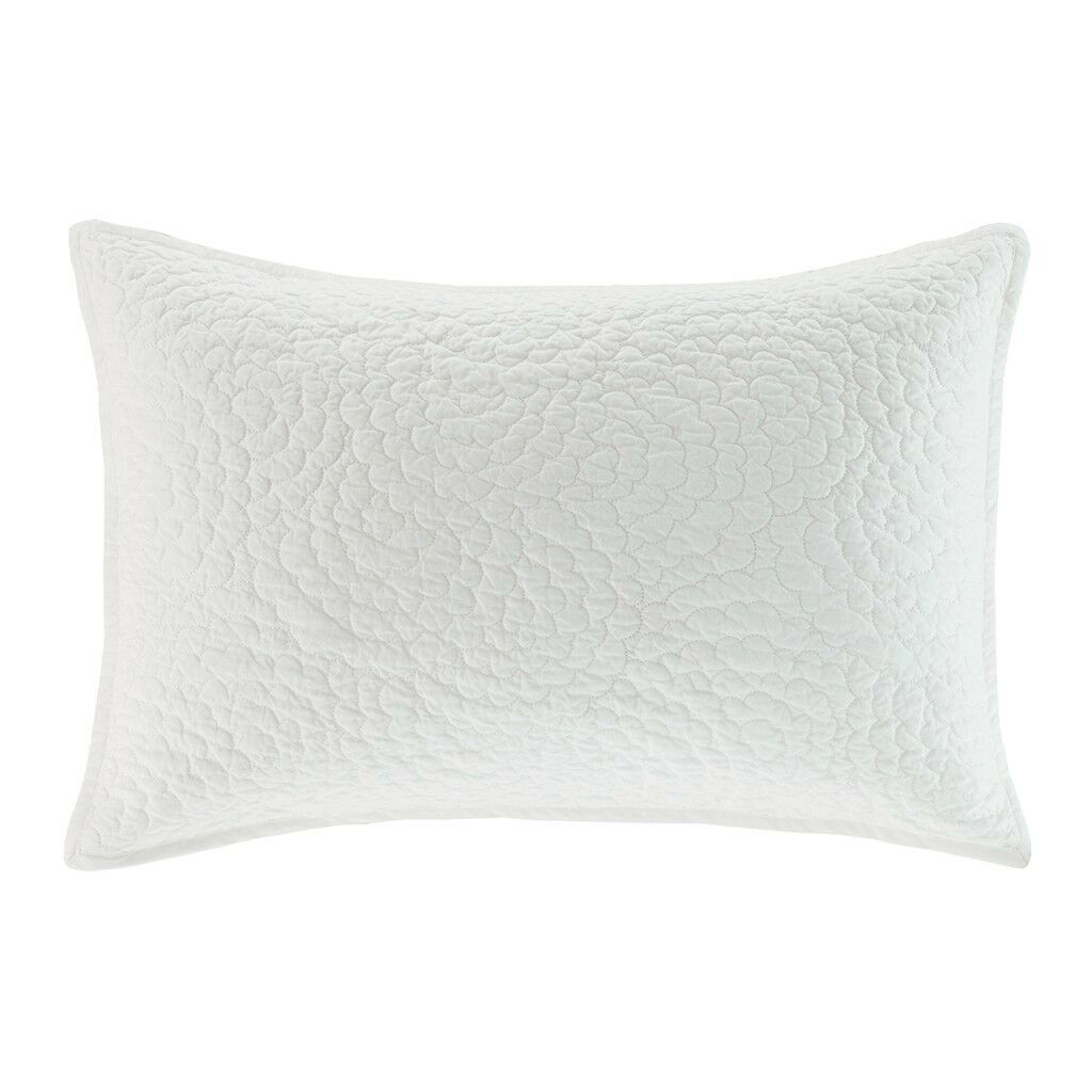 Harbor House Lynnwood Quilted Chrysanthemum Floral Oblong Toss Pillow Ivory