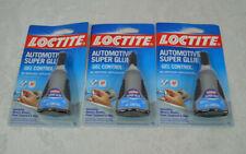 3 Loctite Automotive Super Glue Gel No Drip Easy Application 18 Oz