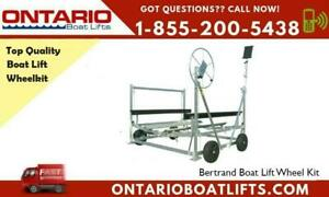 Bertrand Boat Lift Wheel Kit - You can now move your boat lift around with ease! 2020 Boat Showing Pricing Now On! Ontario Preview