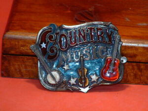 Pre-Owned-American-Chicago-Buckle-Country-Music-Belt-Buckle