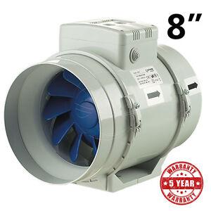 Exhaust Inline Fan 8 200mm Blauberg Bathroom Hydroponic Ventilation 2 Speeds Ebay