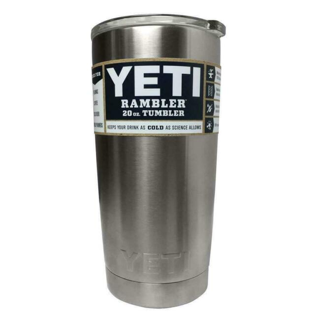 Yeti Rambler 20 Oz Tumbler Vacuum Insulated Cup W Lid Hot Cold Beverage - YRAM20