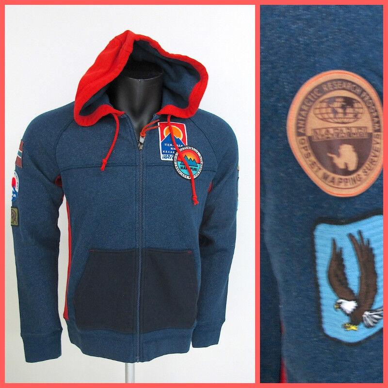 NAPAPIJRI Männer Pullover full zip Bingöl art. N0YHDM79 Farbe Blau Winter 2018