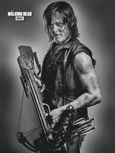 "The Walking Dead Daryl Dixon cashmere fleece throw 45/"" x 60/"" NEW"