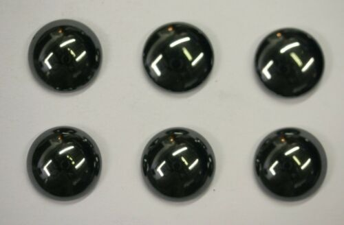 4pcs Hematite Round Calibrated Cabochon 14mm 15mm 16mm 18mm High Quality Cabs