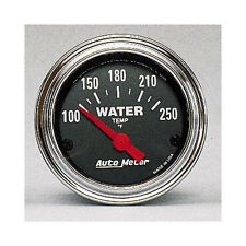 """Auto Meter Traditional 100-250F Chrome Electric Water Temperature Gauge 2 1/16"""""""