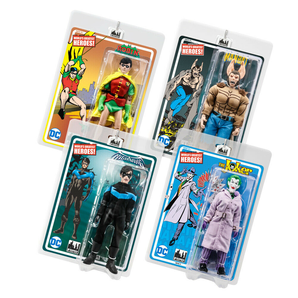 Batman Retro 8 Inch Action Figures Series 6  Set of 4