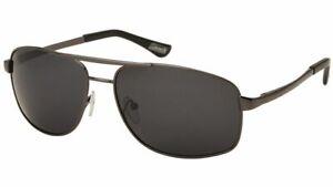 Coleman-Polarized-Sunglasses-Gun-Metal-Frame-Smoke-Lens-Aviator-Pilot-M-L-Mens